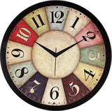 Ethnic Designer Wall Clock with Glass for Home & Offices