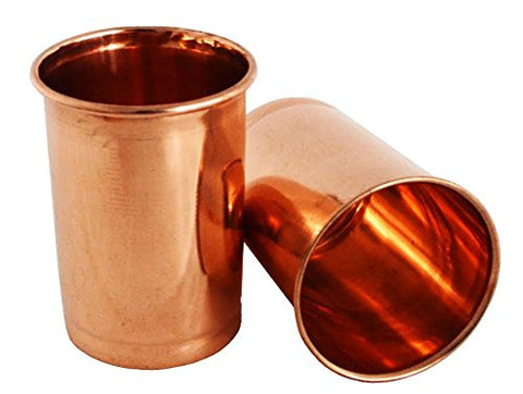 Drinking Copper Glass Tumbler Set of 2 Serveware