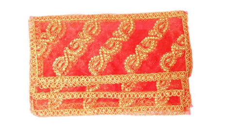 Goddess Chunri with Golden Embroidery & Lace