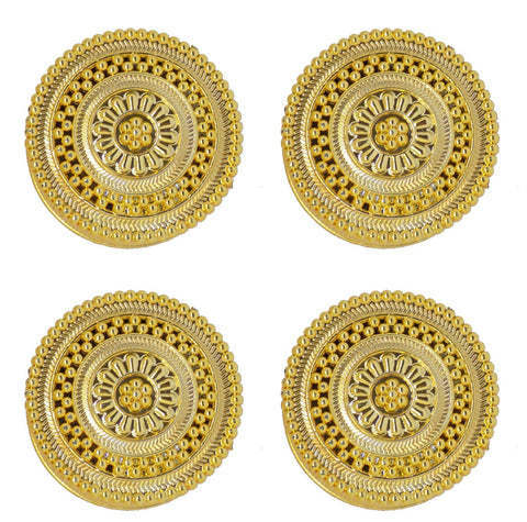 Gold Plated Kumkum Container for Women Set of 4