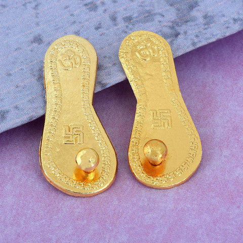 Sri Laxmi Charan Paduka Gold Plated