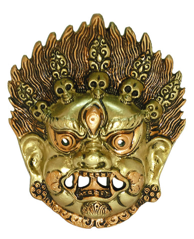 Handicraft Nazar Battu - Wall Hanging Metal Mahakal Face Mask Evil Eye Protector