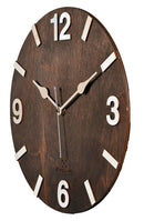 Dark Walnut Handcrafted Wooden Wall Clock