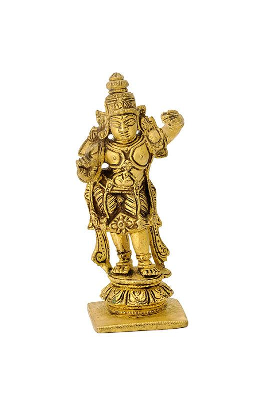 Lord Rama Miniature Brass Figure