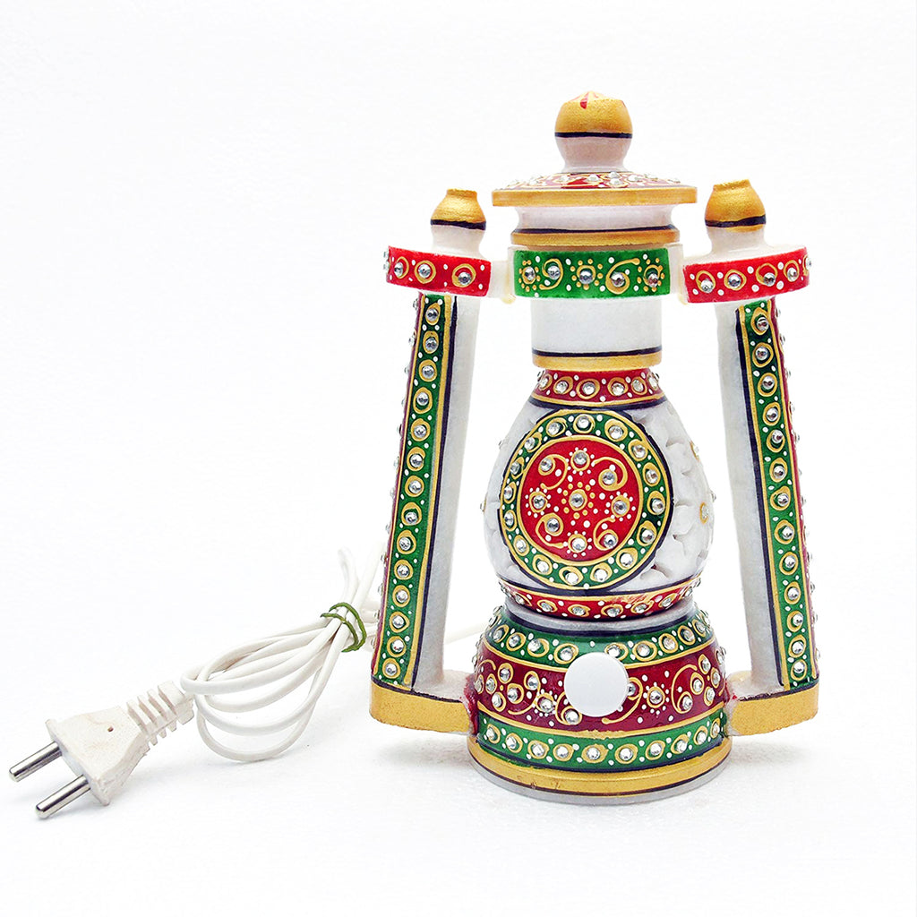 Marble Lantern with Jali Cut Work