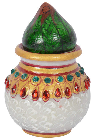 Decorative Marble Mangal Kalash