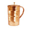 Pure Copper Handmade Jug with Brass Lid 1 Ltr