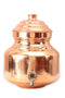 Handmade Copper Water Pot Container with Lid 2.5 Ltr.
