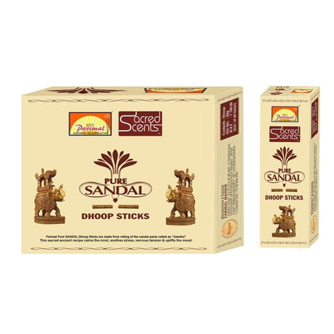 Parimal Sacred Scents Natual Pure Sandal Dhoop Sticks Box