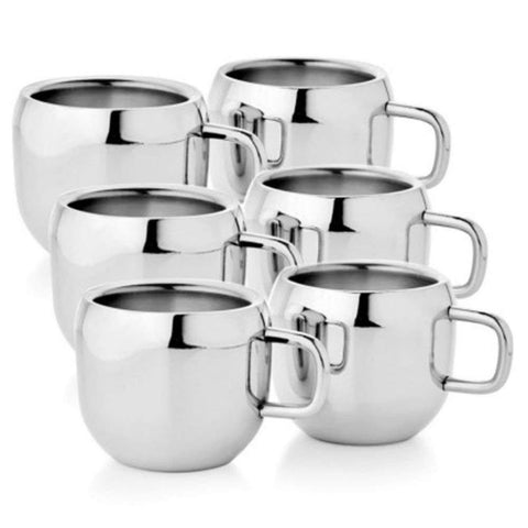 Double Wall Tea/Coffee Cup Set of 6