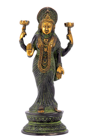 Vishnu Priya Mahalakshmi Black Finishing Brass Statue