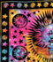 Celestial Sun Moon Stars Tie Dye Cotton Wall Hanging Tapestry