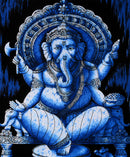 Lord Ganesha Indian Batik Print Tapestry Wall Hanging