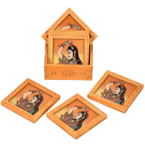Mughal Princess Coasters and Holders Set