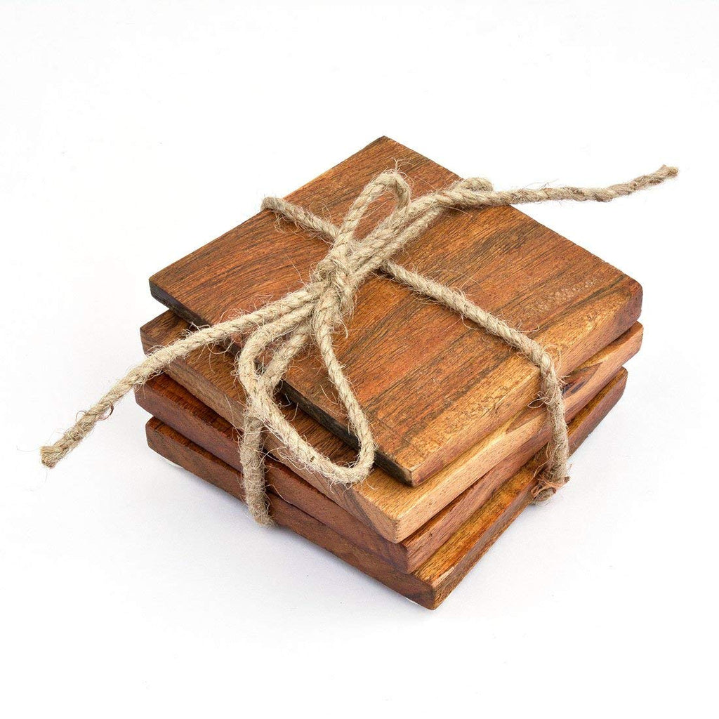 Wooden table Coasters Set of 4