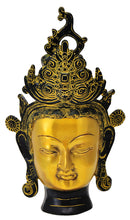 Decorative Brass Tara Face in Golden Finish 11.75""
