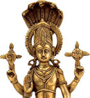 Protector God Vishnu - Brass Sculpture
