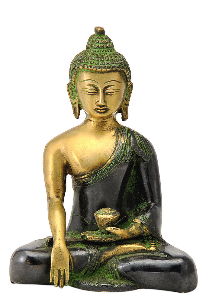 Seated Buddha Statue 7.25""