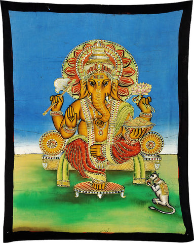 Lord Vinayak - Indian Batik Art Painting