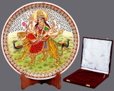 Maa Ambike - Hand Painted Marble Saucer