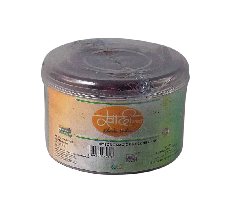 Khadi India Mysore Rose Magic Dry cone Dhoop 100gm