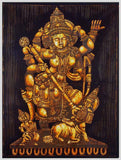 Durga Slays the Demon Mahishasur - Batik Print