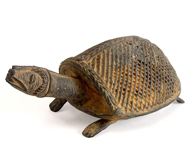 Lovely Turtle Brass Dhokra Statue
