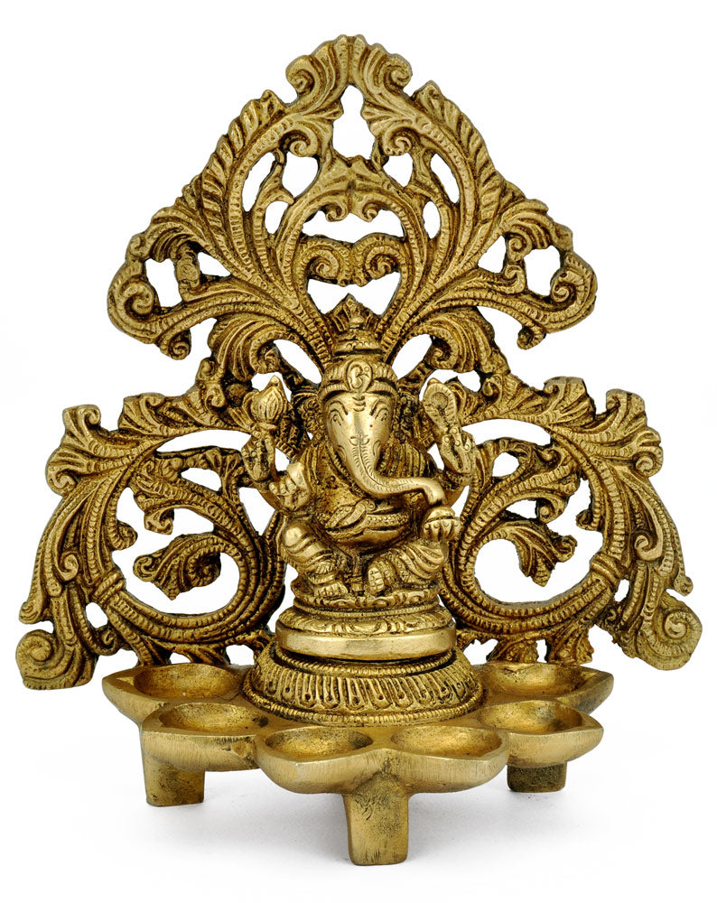 Ganesha Lamp in Brass