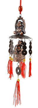 Feng Shui Pagoda Bell with Laughing Buddha