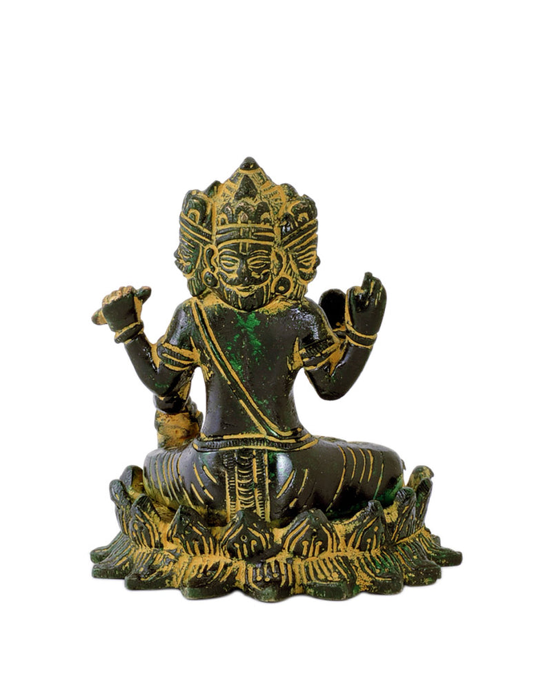 'Lord Brahma' Creater of Universe - Antiquated Brass Statue