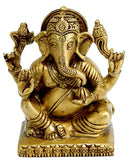 """Lambodara"" Pot Bellied Ganesha - Brass Statuette"