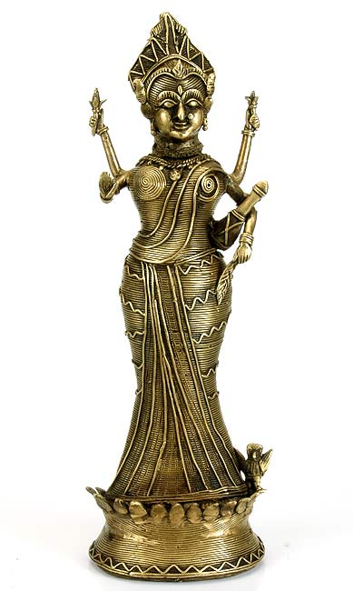 Tribal Brass Sculpture 'Devi Lakshmi'