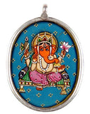 Ganesha Seated on Chowki - Pendant