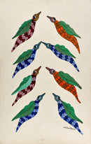 Flying Birds - Gond Painting