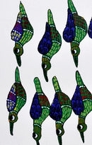 Group of Birds - Gond Tribal Art