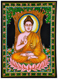 Lord Buddha Seated Under Bodhi Tree - Print on Cloth
