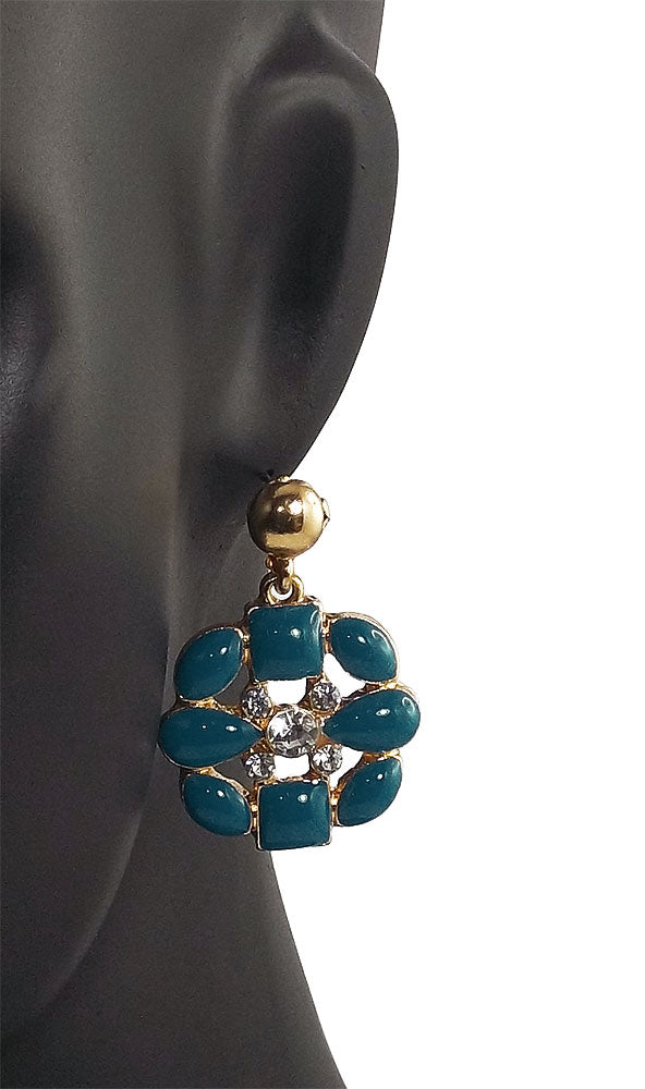 Blue Earrings For Women - Metal Dangle & Drop