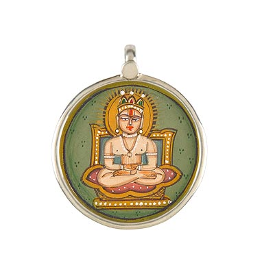 Mahaveer Swami - Hand Painted Pendant