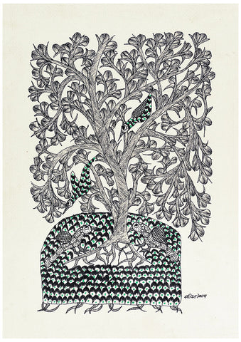 Tree of Life - Gond Folkart Panting