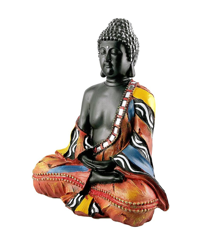 Mediative Thai Buddha Statue in Fiber
