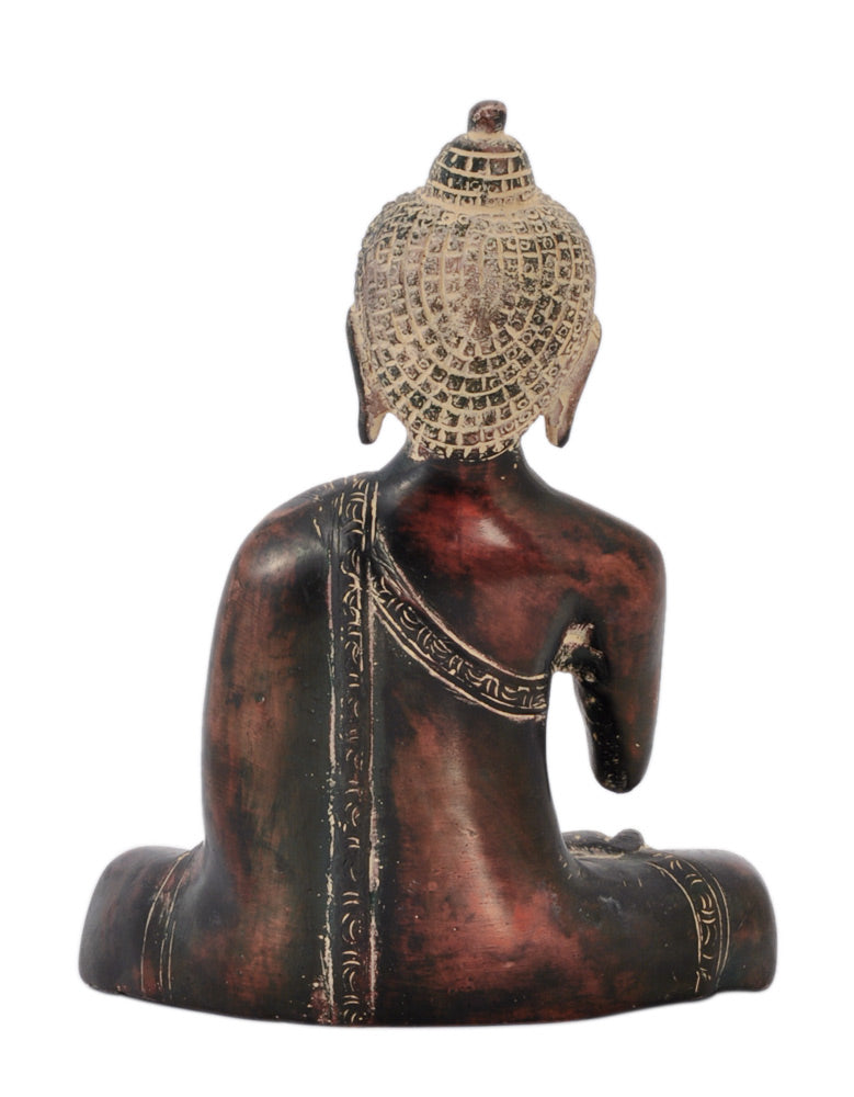 Gautam Buddha Brass Figurine in Old Rustic Finish