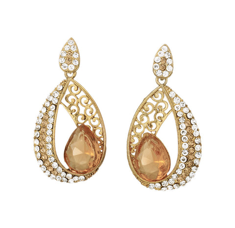 Trendy Golden Dangle Earrings