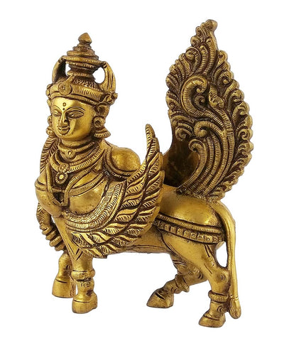 Wish Fulfilling Kamadhenu Cow - Brass Statue