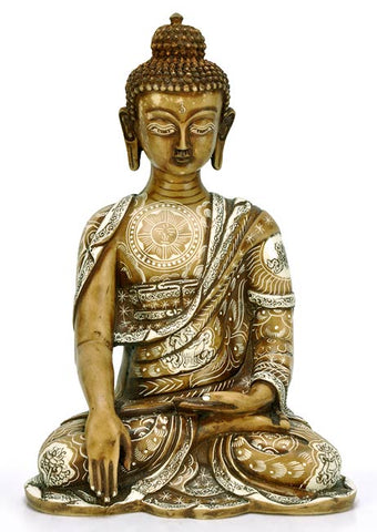 Bhumisparsha Buddha with Astamangala Carving 10""