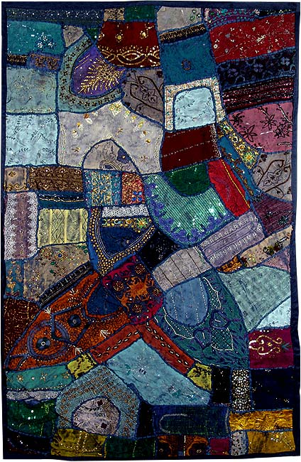 Summer Midnight - Patchwork Wall Hanging