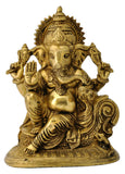 Blessing Lord Vinayaka Brass Idol