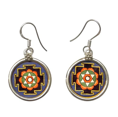 Mandala Earrings - Hand Panited Jewelry