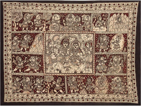 Story of Goddess Sati - Kalamkari Painting