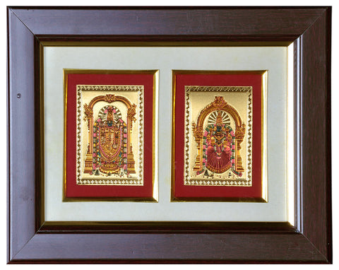 God Balaji Goddess Lakshmi Padmavathi Photo Frame