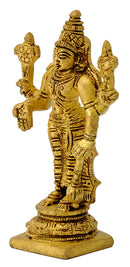 Lord Narayan Golden Finish Brass Statue